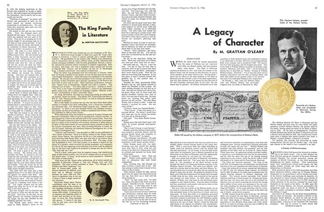 Article Preview: A Legacy of Character, March 1936 | Maclean's