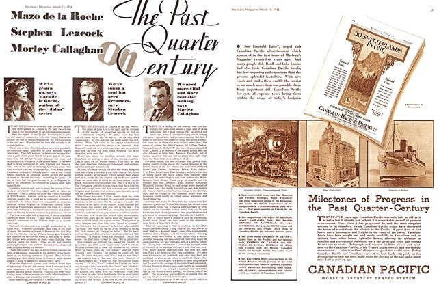 Article Preview: The Past Quarter on Century, March 1936 | Maclean's