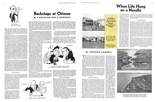 Article Preview: Backstage at Ottawa, March 1936 | Maclean's