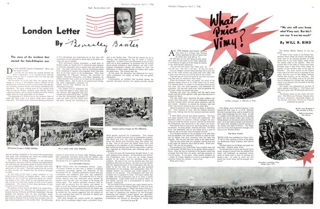 Article Preview: What Price Vimy?, April 1st, 1936 1936 | Maclean's