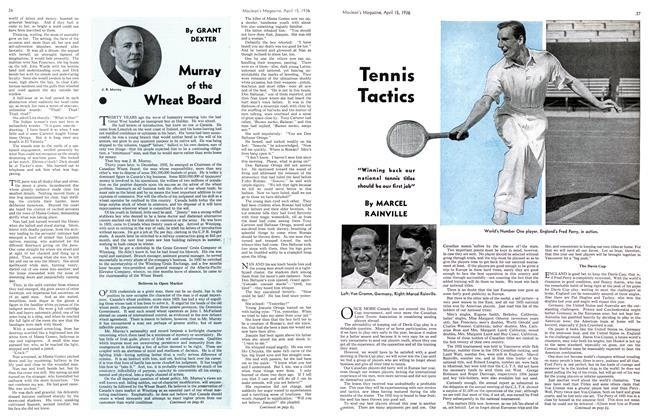 Article Preview: Tennis Tactics, April 1936 | Maclean's
