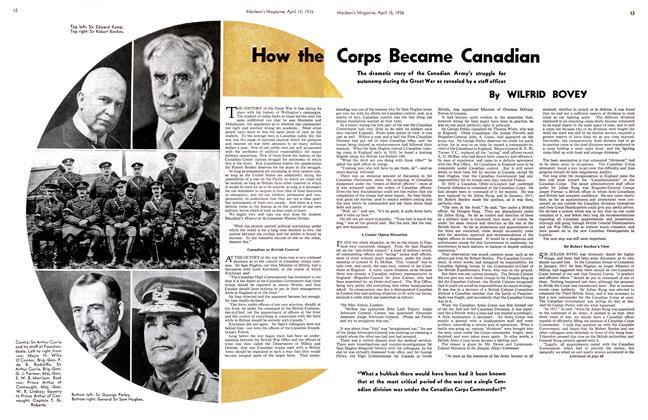 Article Preview: How the Corps Became Canadian, April 1936 | Maclean's