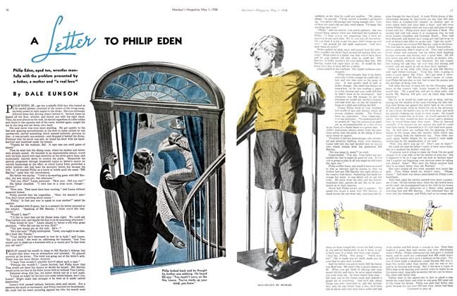 Article Preview: A LETTER TO PHILIP EDEN, May 1st, 1936 1936 | Maclean's