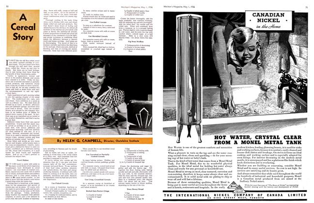 Article Preview: A Cereal Story, May 1st, 1936 1936 | Maclean's
