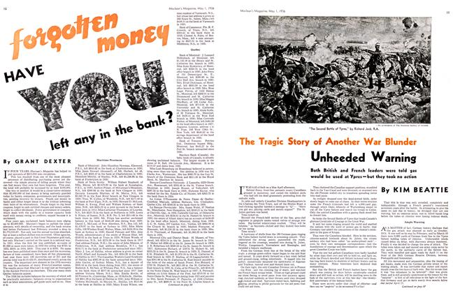 Article Preview: HAVE You left any in the bank ?, May 1st, 1936 1936 | Maclean's