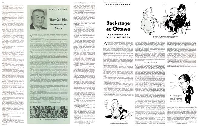 Article Preview: Backstage at Ottawa, June 1936 | Maclean's