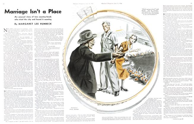 Article Preview: Marriage Isn't a Place, June 1936 | Maclean's