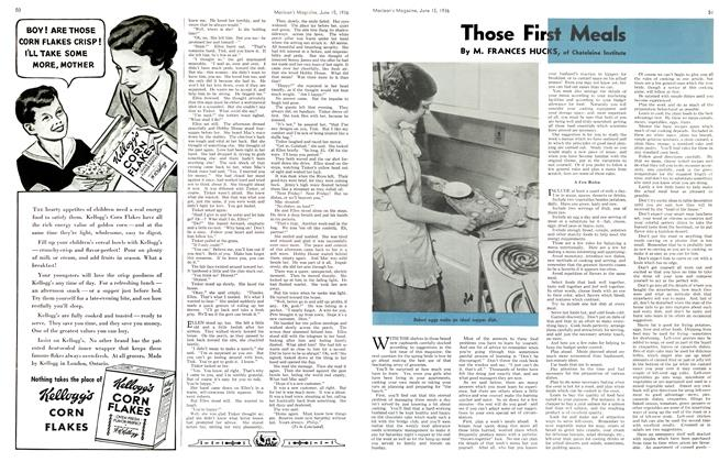 Article Preview: Those First Meals, June 1936 | Maclean's