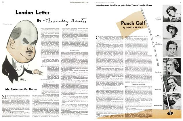 Article Preview: Punch Golf, July 1st, 1936 1936 | Maclean's