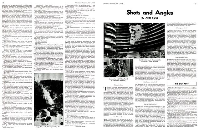Article Preview: Shots and Angles, July 1st, 1936 1936 | Maclean's