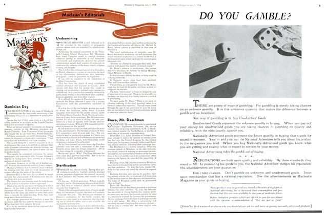 Article Preview: Maclean's Editorials, July 1st, 1936 1936 | Maclean's
