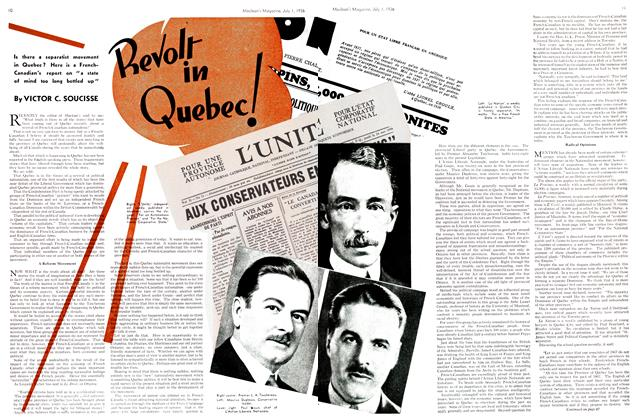 Article Preview: Revolt in Quebec!, July 1st, 1936 1936 | Maclean's