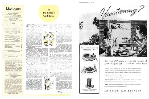 Article Preview: In the Editor's Confidence, July 1936 | Maclean's
