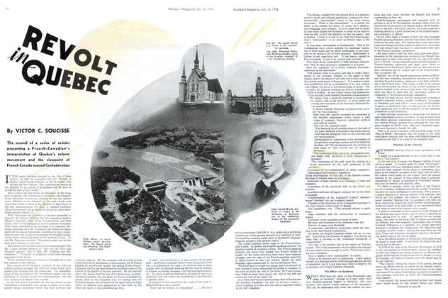 Article Preview: REVOLT in QUEBEC, July 1936 | Maclean's