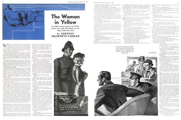 Article Preview: The Woman in Yellow, August 1936 | Maclean's
