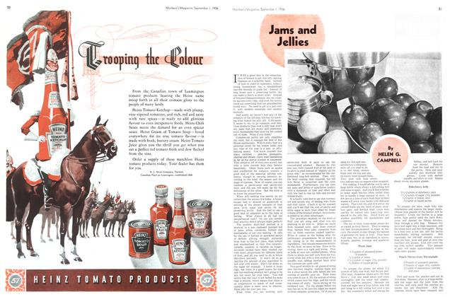 Article Preview: Jams and Jellies, September 1st, 1936 1936 | Maclean's