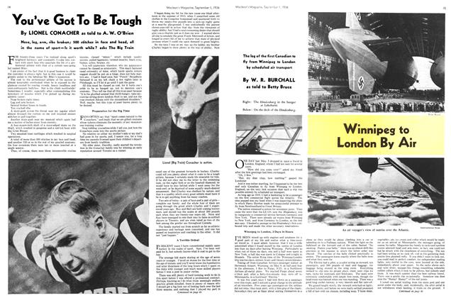 Article Preview: Winnipeg to London By Air, September 1st, 1936 1936 | Maclean's