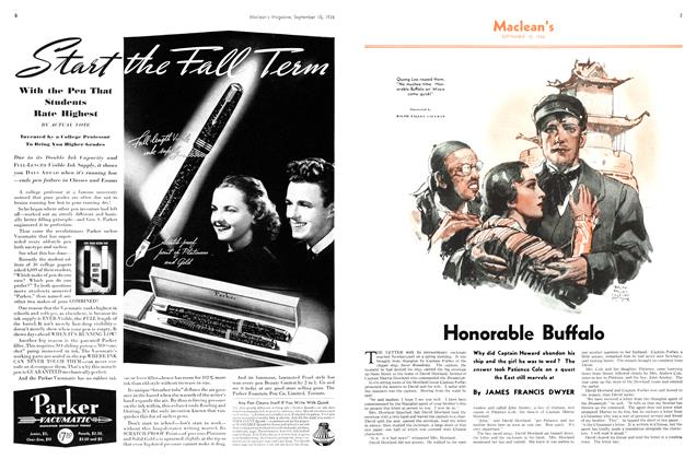 Article Preview: Honorable Buffalo, September 1936 | Maclean's