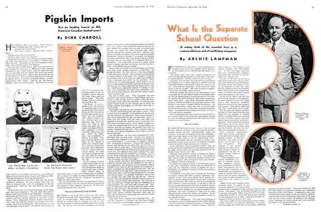 Article Preview: What Is the Separate School Question, September 1936 | Maclean's