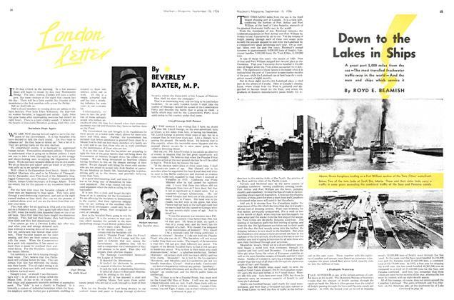 Article Preview: Down to the Lakes in Ships, September 1936 | Maclean's