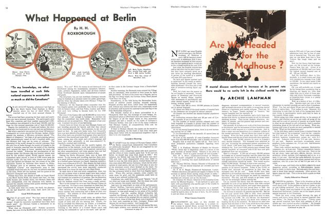 Article Preview: What Happened at Berlin, October 1936 | Maclean's