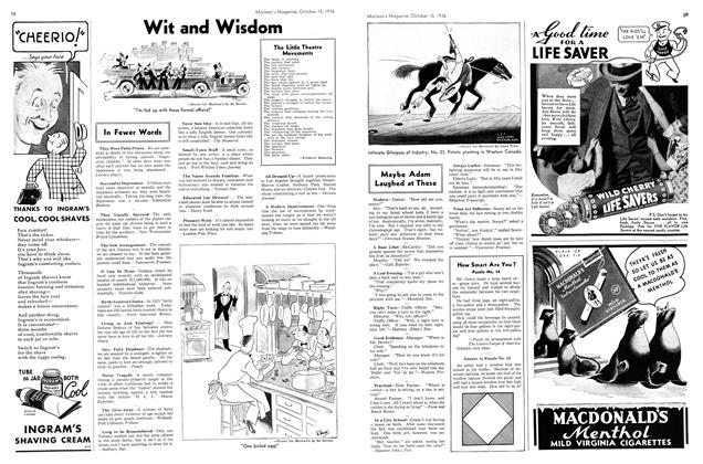 Article Preview: Wit and Wisdom, October 1936 | Maclean's