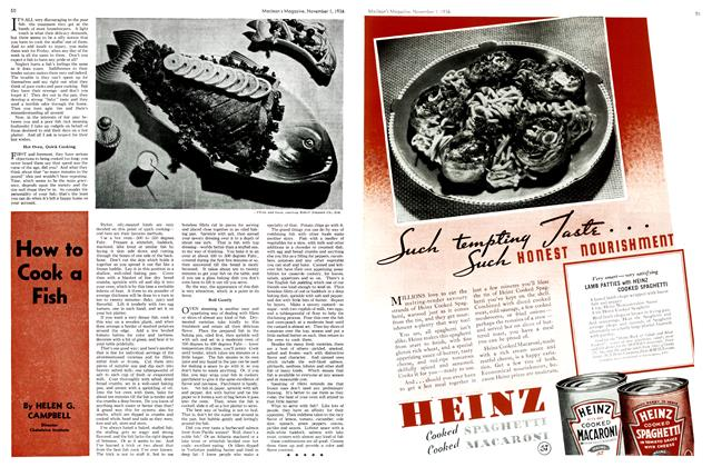 Article Preview: How to Cook a Fish, November 1st, 1936 1936 | Maclean's
