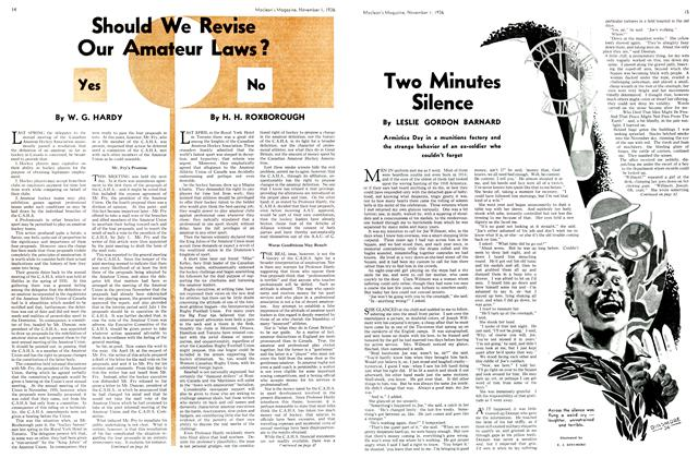 Article Preview: Two Minutes Silence, November 1st, 1936 1936 | Maclean's