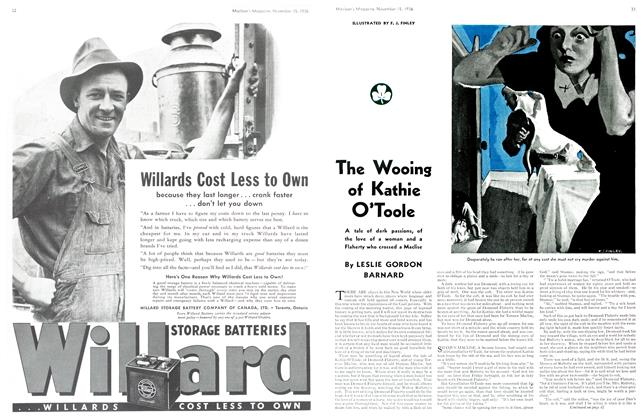 Article Preview: The Wooing of Kathie O'Toole, November 1936 | Maclean's
