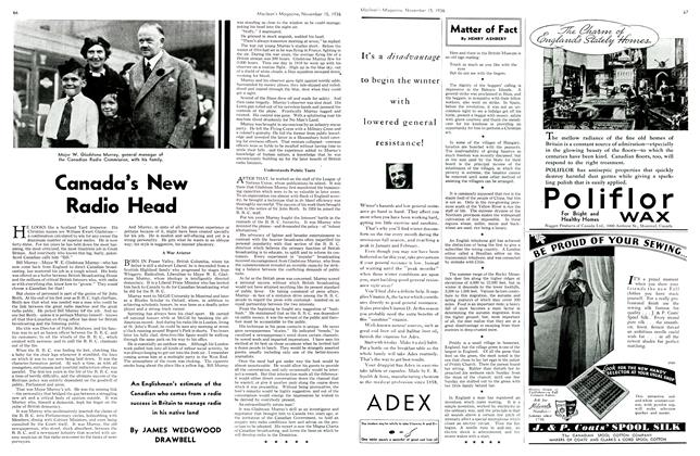 Article Preview: Canada's New Radio Head, November 1936 | Maclean's