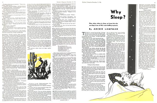 Article Preview: Why Sleep?, November 1936 | Maclean's