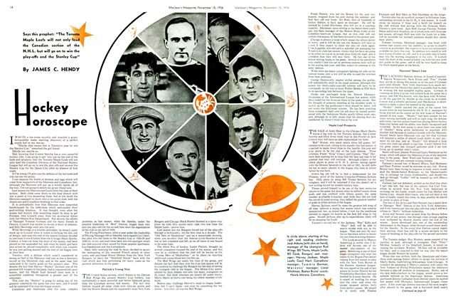 Article Preview: Hockey Horoscope, November 1936 | Maclean's