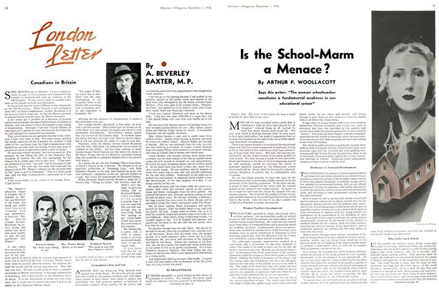 Article Preview: Is the School-Marm a Menace?, December 1936 | Maclean's