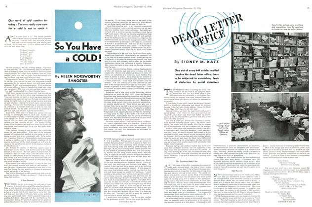 Article Preview: DEAD LETTER OFFICE, December 1936 | Maclean's