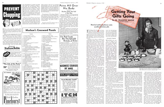 Article Preview: Getting Your Gifts Going, January 1937 | Maclean's