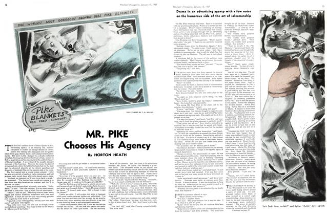 Article Preview: MR. PIKE Chooses His Agency, January 1937 | Maclean's