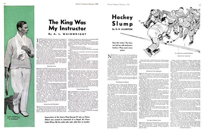 Article Preview: Hockey Slump, February 1st 1937 1937 | Maclean's