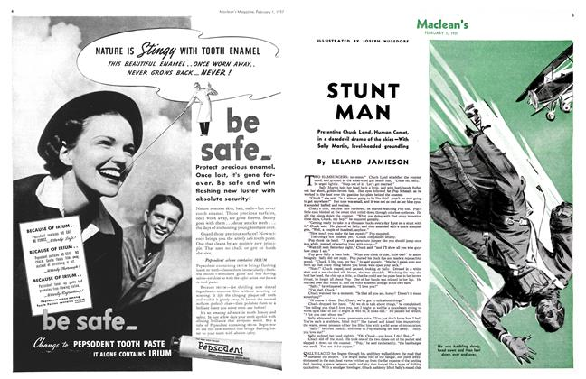 Article Preview: STUNT MAN, February 1st 1937 1937 | Maclean's