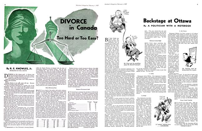 Article Preview: Backstage at Ottawa, February 1st 1937 1937 | Maclean's