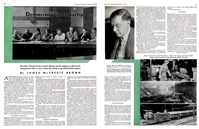 Article Preview: Democracy in Industry, February 1st 1937 1937 | Maclean's