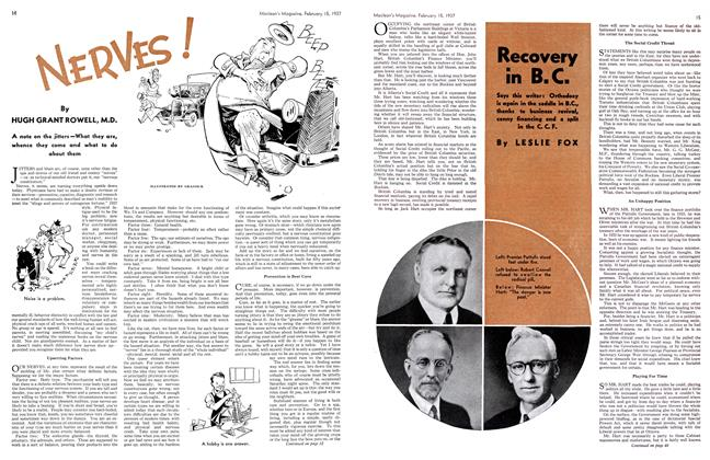 Article Preview: NERVES!, February 1937 | Maclean's