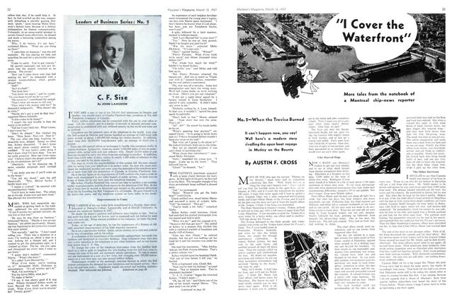 """Article Preview: """"I Cover the Waterfront"""", March 1937 