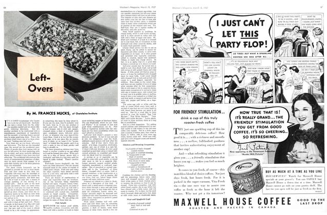 Article Preview: LeftOvers, March 1937 | Maclean's