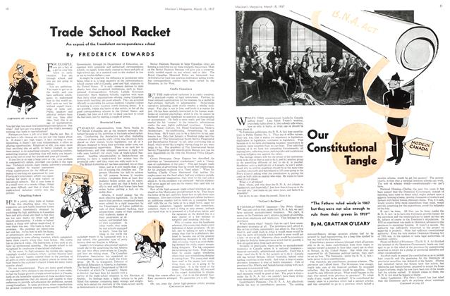 Article Preview: Trade School Racket, March 1937 | Maclean's
