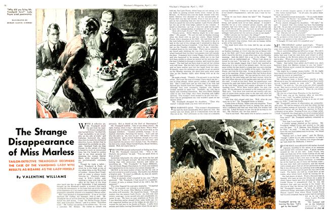 Article Preview: The Strange Disappearance of Miss Marless, April 1st 1937 1937 | Maclean's