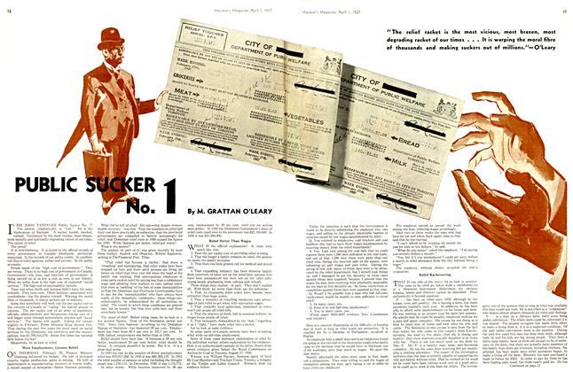 Article Preview: PUBLIC SUCKER No.1, April 1st 1937 1937 | Maclean's