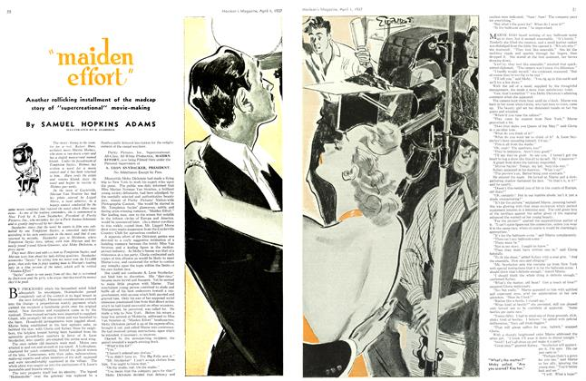 """Article Preview: """"maiden effort"""", April 1st 1937 1937 