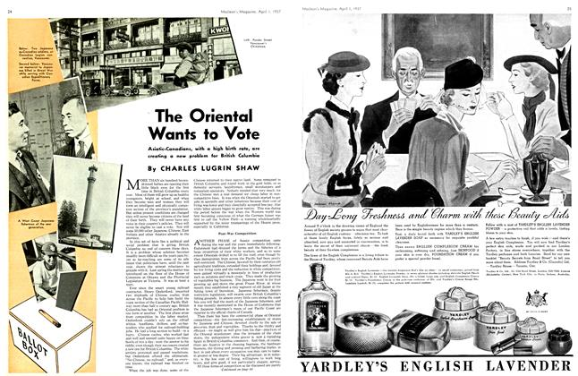 Article Preview: The Oriental Wants to Vote, April 1st 1937 1937 | Maclean's