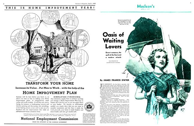 Article Preview: Oasis of Waiting Lovers, April 1st 1937 1937 | Maclean's