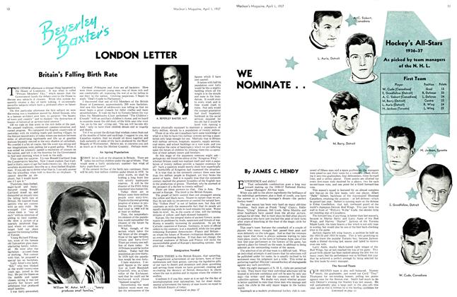 Article Preview: LONDON LETTER, April 1st 1937 1937 | Maclean's